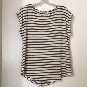 Green Envelope striped tee